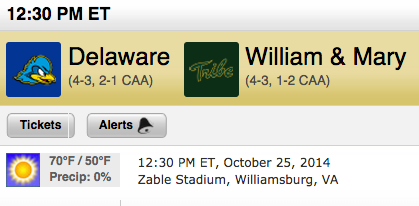 Preview: #18 William & Mary vs  Delaware – The William and Mary