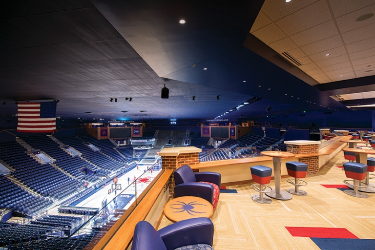 The University of Richmond's newly renovated Robins Arena features four hospitality suites