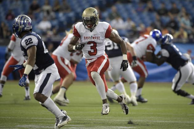 Tre McBride at this year's 2015 East West Shrine Game [Phelan M. Ebenhack/Associated Press]