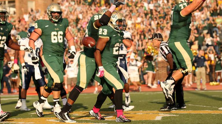 Will it be Kendell Anderson time again this Saturday? [Photo: tribeathletics.com]