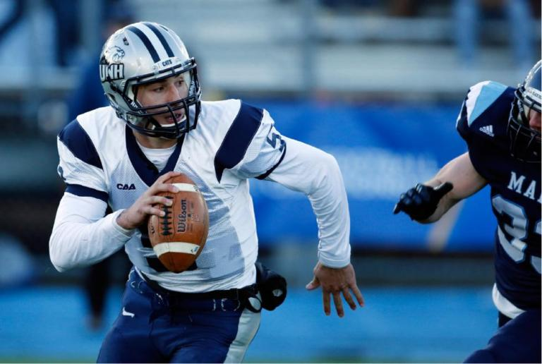 With senior QB Sean Goldrich's return to the Wildcats this week, UNH's offense looks to receive a much-needed jolt of life. [photo: concordmonitor.com]