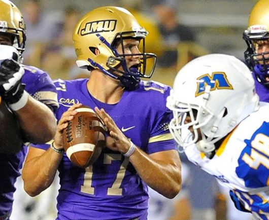 Newly crowned JMU QB Bryan Schor looks to fill a huge void following Vad Lee's season-ending injury. [photo: jmusports.com]
