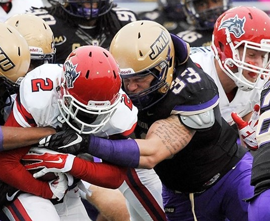 Linebacker Gage Steele leads a struggling JMU defense. [photo: jmusports.com]