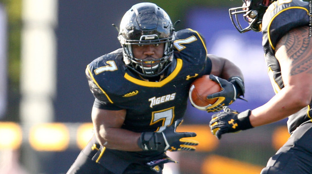 Towson running back Darius Victor is one of the best in the CAA. [photo: pressboxonline.com]