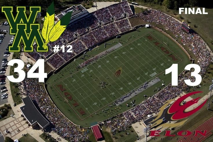 Elon, NC. September 29, 2007. An aerial of Rhodes Stadium as Elon University hosts Appalachian State.