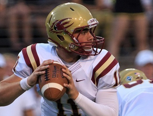 Elon's Dylan Thompson will look to get the passing game going against the Tribe this Saturday. [photo: elonphoenix.com]