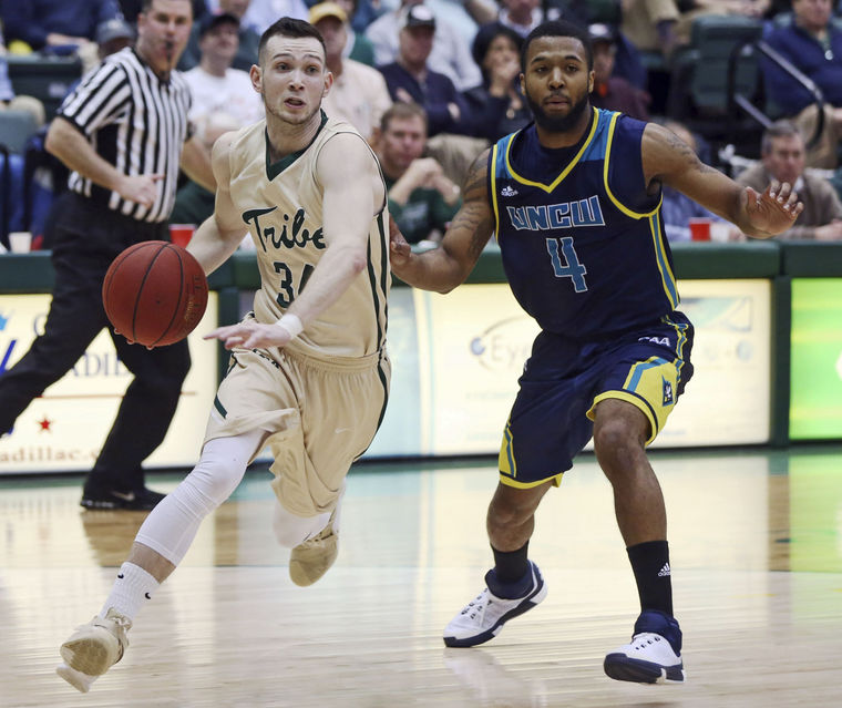 David Cohn and the boys whooped #1 UNCW before dropping a head scratcher to Drexel [photo: AILEEN DEVLIN/THE DAILY PRESS]