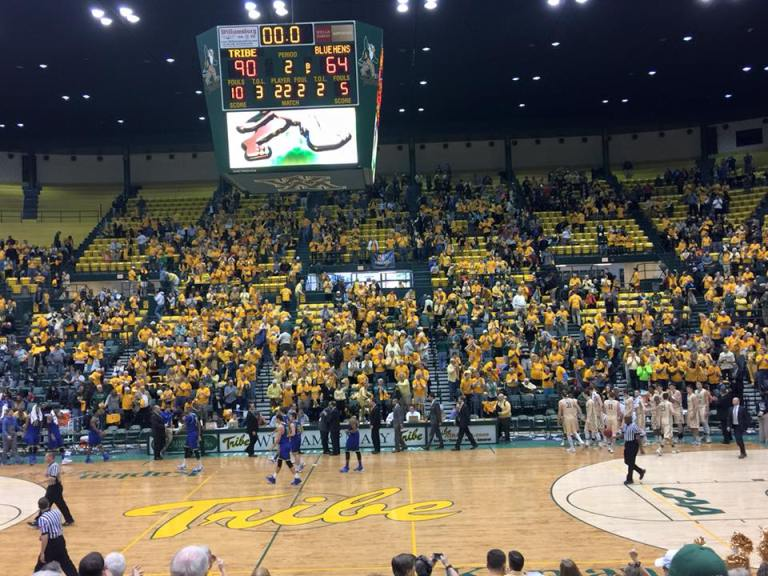 This year's Gold Rush game was another success, as the Tribe dismantled the Blue Hens 90-64.