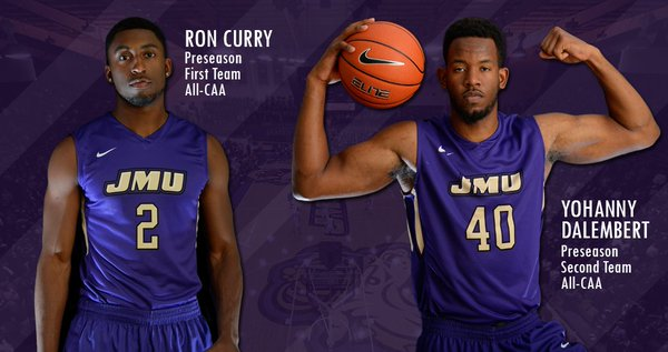 JMU's Ron Curry and Johanny Dalembert tore up W&M last week, and will need to be shut down on Saturday. [photo via JMU Athletics]