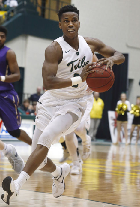 In the past, Head Coach Tony Shaver has said this team will only go so far as Daniel Dixon will take them. Dixon will need to take his game to the next level if the Tribe is to make it all the way in the CAA Tournament. [photo: Richmond Times-Dispatch, Joe Mahoney]