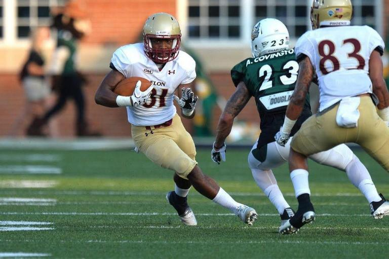 One of Elon's young guns, WR Jeremiah Bridges, will look to get on the board this weekend [photo: thetimesnews.com]