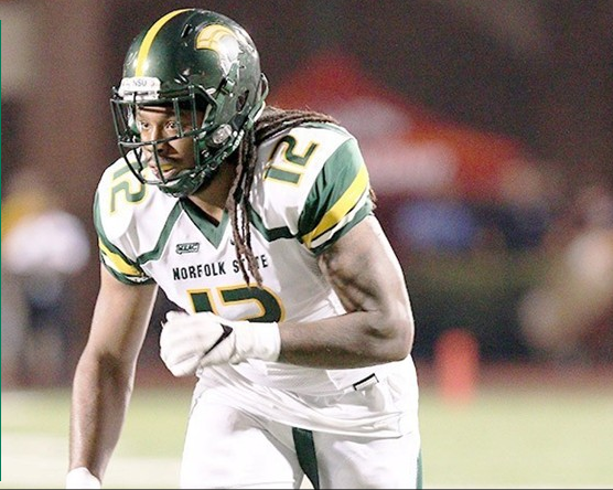 #12 DL Terrell Reid (photo via nsuspartans.com)