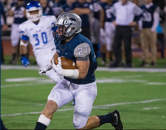 RB Dalton Crossan is in the midst of a career year. W&M's linebackers will need to plug the holes and stop the run on Saturday. [photo: unhwildcats.com]