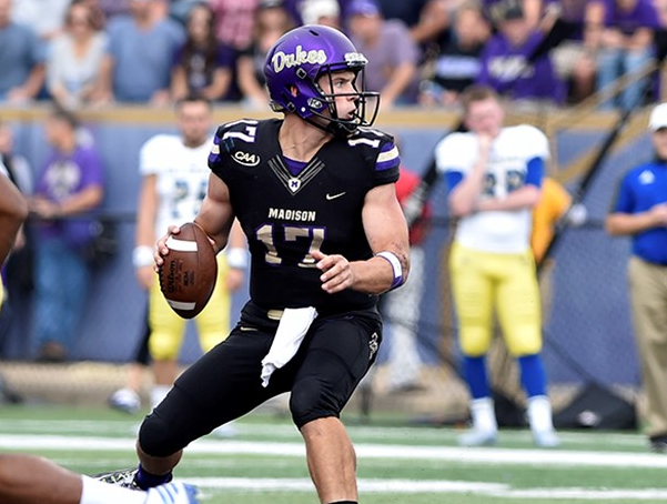 QB Bryan Schor has been solid for this Dukes this year. He can also get it done on the ground. [photo: jmusports.com]