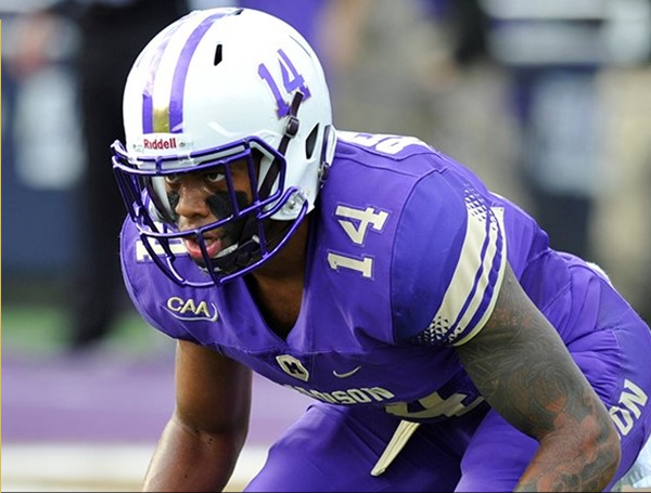 Senior CB Taylor Reynolds has been a consistent starter for the Dukes over the last several seasons. [photo: jmusports.com]