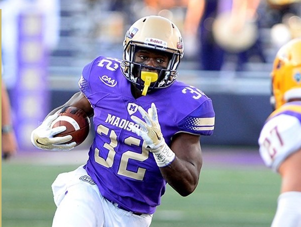 Ultimately, W&M will have to stop JMU's searing hot rushing attack, including senior RB Khalid Abdullah, to have a shot in this one. [photo: jmusports.com]