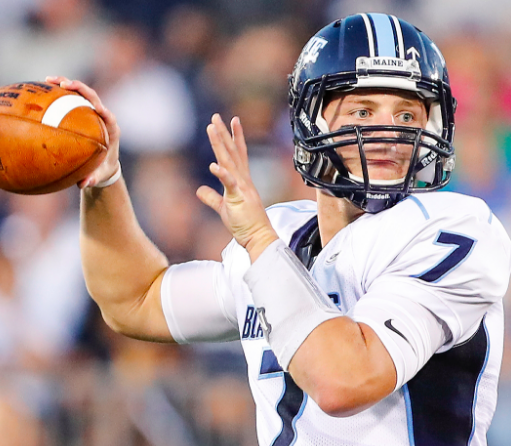 Senior QB Dan Collins currently leads a passing attack that ranks in the CAA's top three. [photo: goblackbears.com]