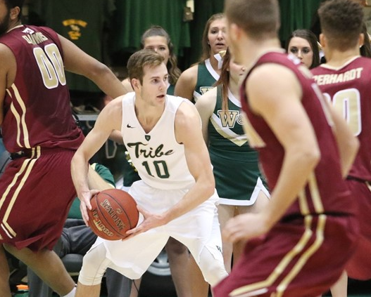 W&M's Connor Burchfield led the entire nation in 3-point percentage last season. [photo: tribeathletics.com]
