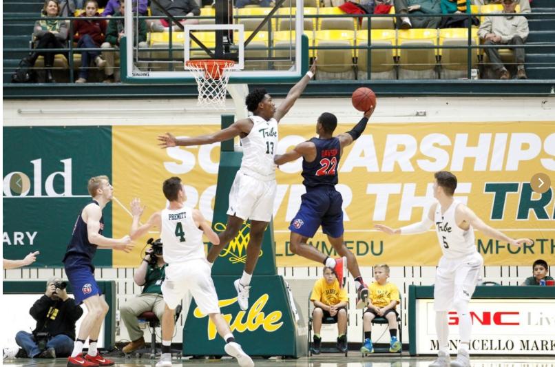 """6'10"""" Freshman Nathan Knight (Syracuse, NY) has already been a key contributor for the Tribe this season. [photo: tribeathletics.com]"""