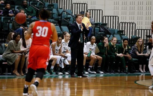 Coach Swanson has this Tribe Women's team on a roll, winning its last eight games [photo via tribeathletics.com]